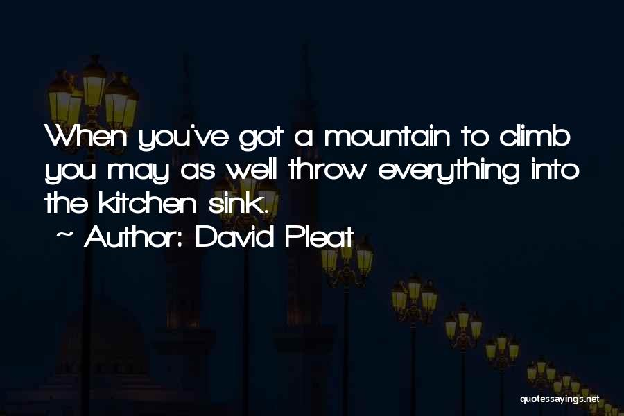Mountain Climb Quotes By David Pleat