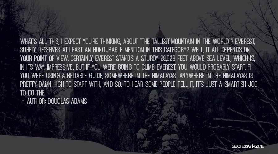 Mountain Climb Quotes By Douglas Adams