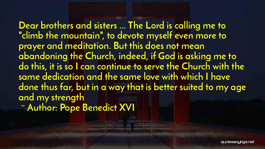 Mountain Climb Quotes By Pope Benedict XVI