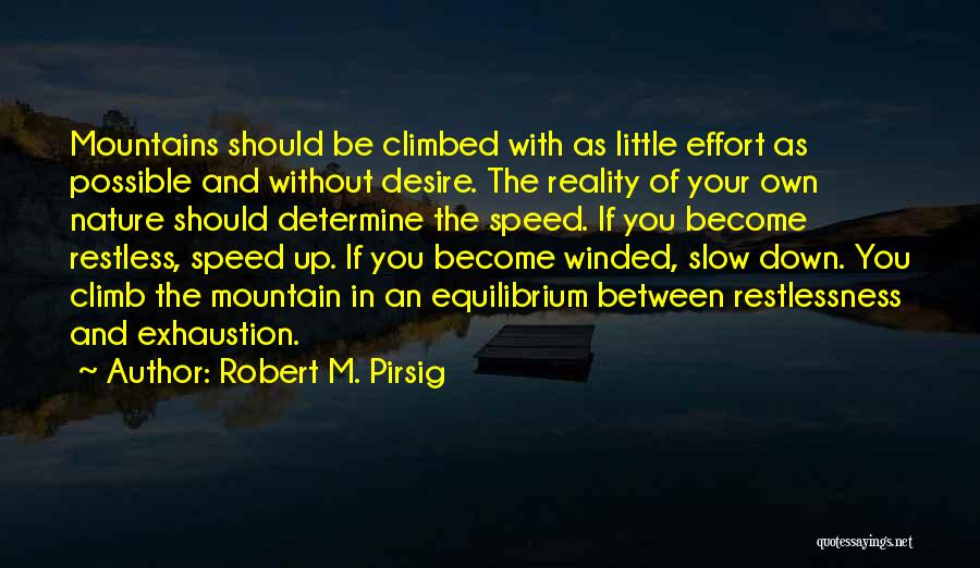 Mountain Climb Quotes By Robert M. Pirsig