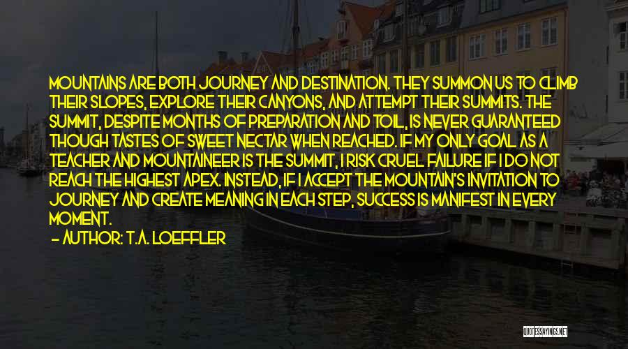Mountain Climb Quotes By T.A. Loeffler