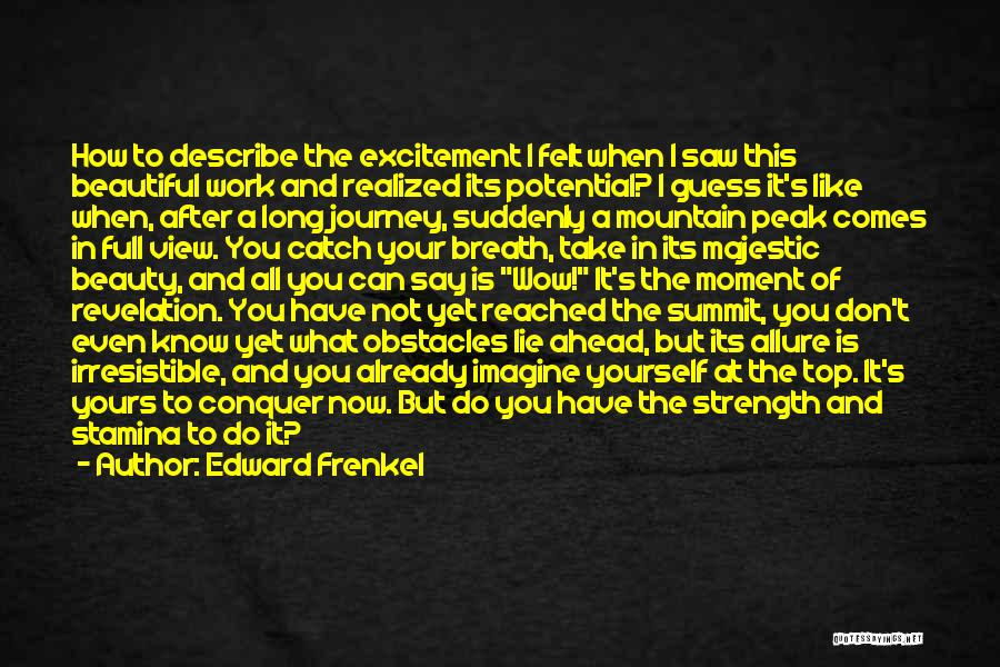 Mountain Conquer Quotes By Edward Frenkel