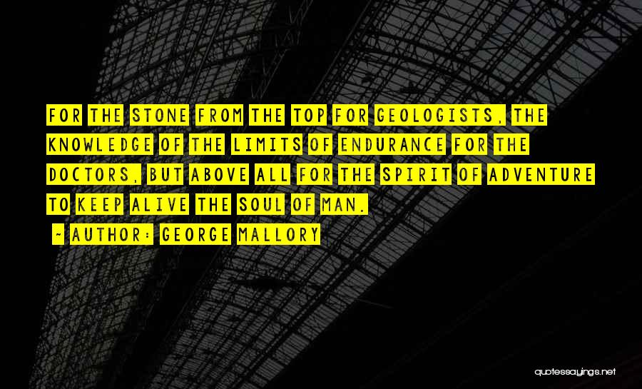 Mountaineering Quotes By George Mallory