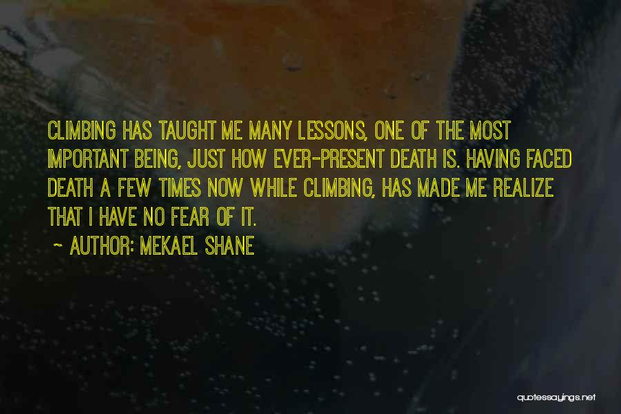 Mountaineering Quotes By Mekael Shane