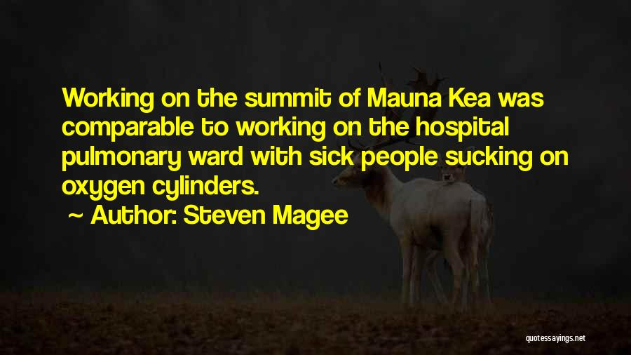 Mountaineering Quotes By Steven Magee