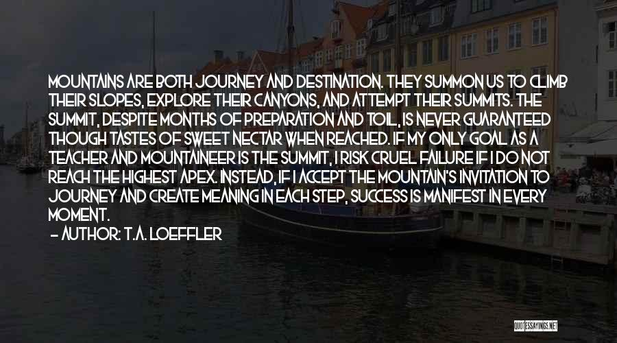 Mountaineering Quotes By T.A. Loeffler