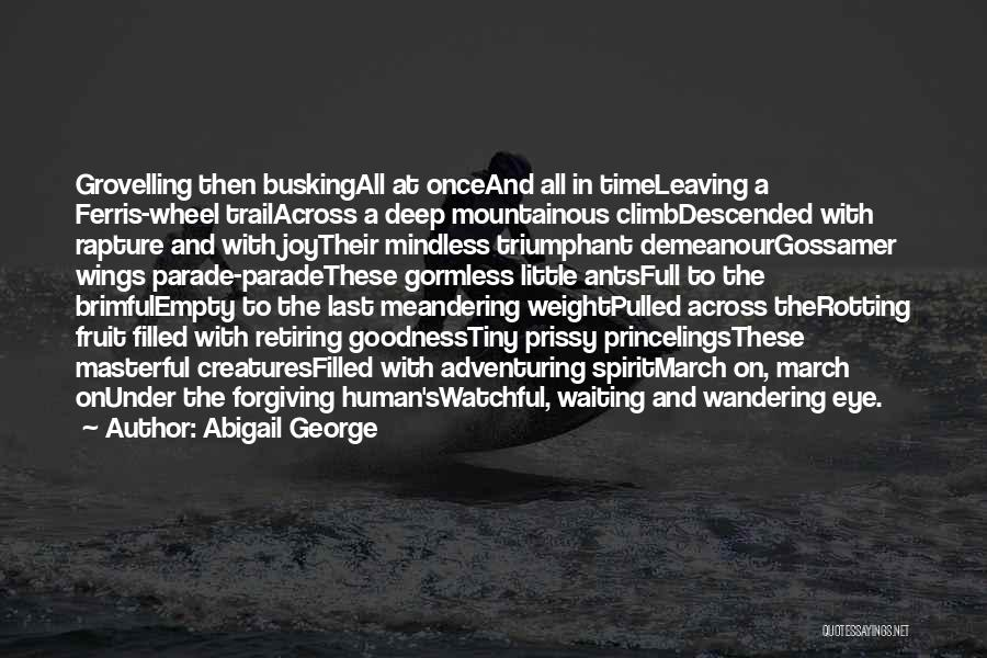 Mountainous Quotes By Abigail George