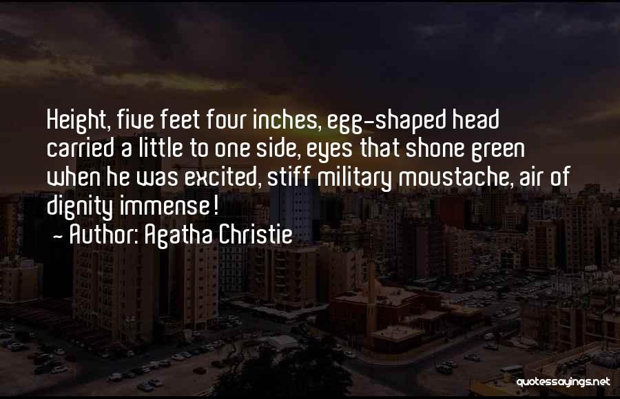 Moustache Quotes By Agatha Christie
