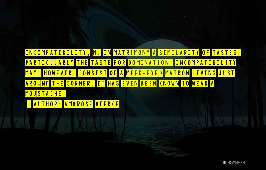Moustache Quotes By Ambrose Bierce