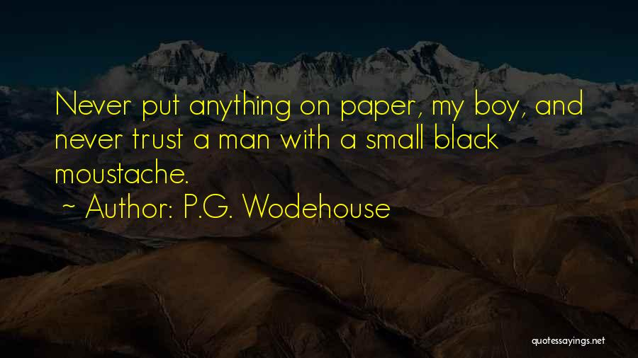 Moustache Quotes By P.G. Wodehouse