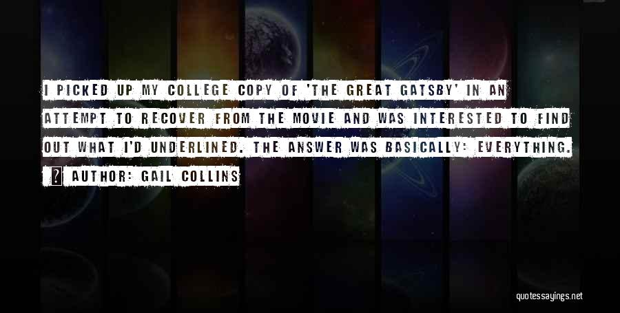 Movie Up Quotes By Gail Collins