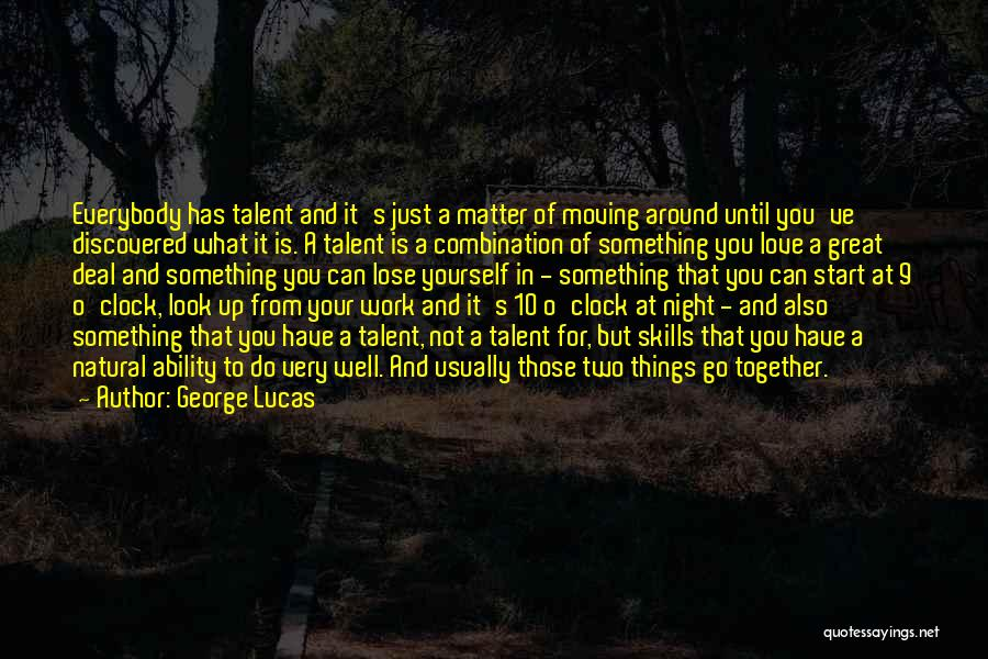 Moving In Together Quotes By George Lucas