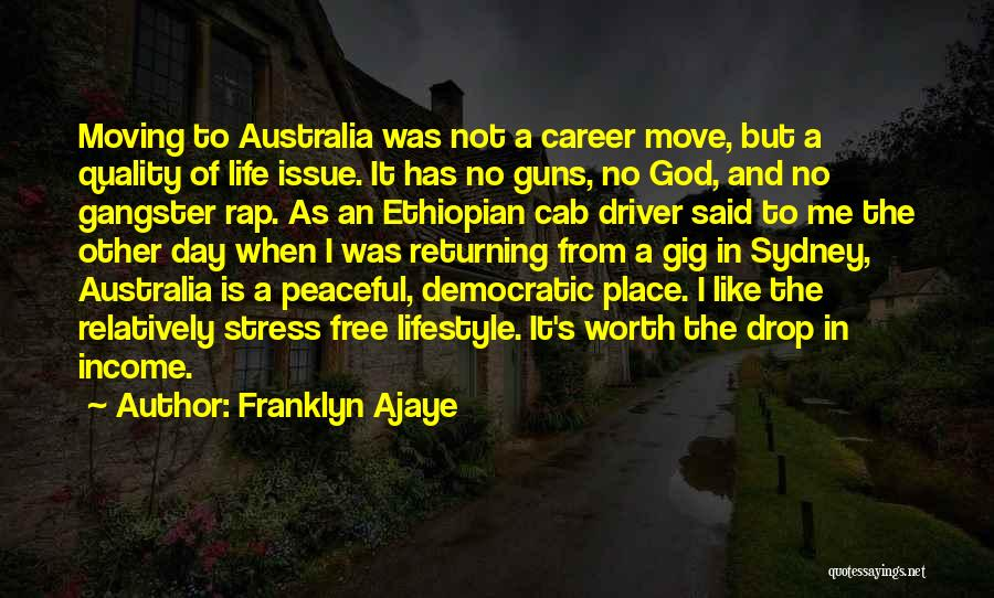 Moving On In Career Quotes By Franklyn Ajaye