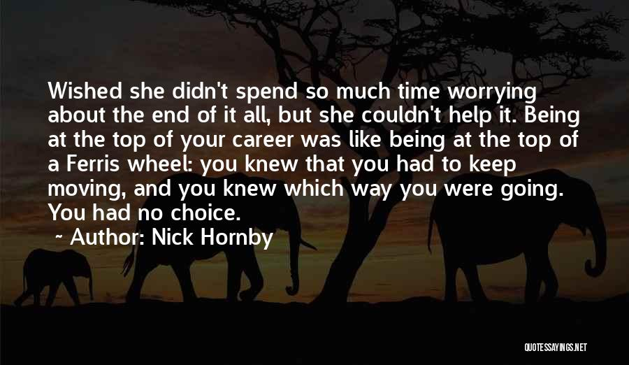 Moving On In Career Quotes By Nick Hornby