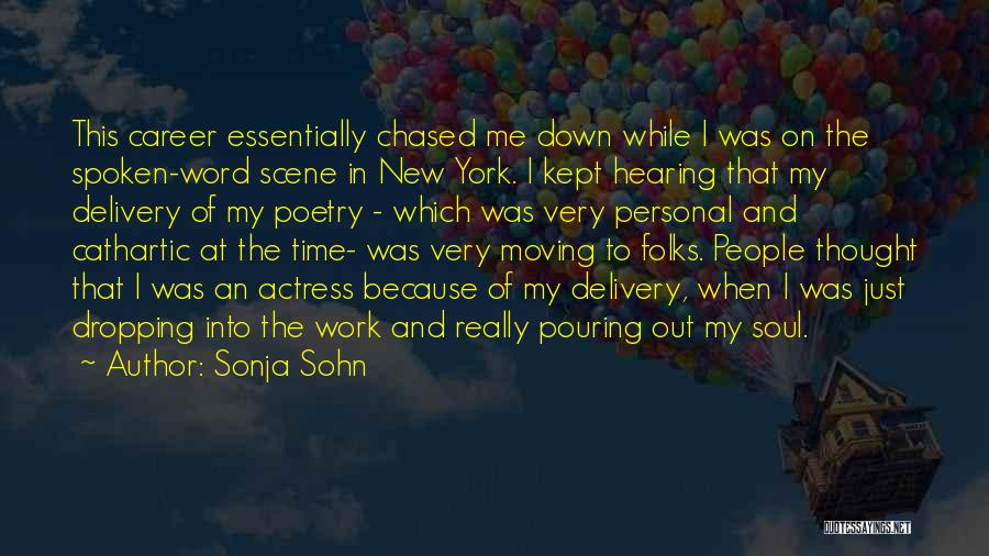 Moving On In Career Quotes By Sonja Sohn