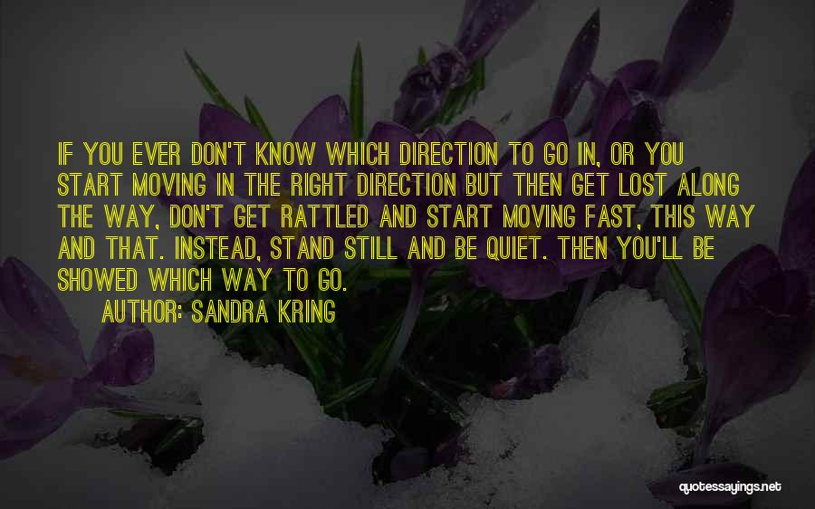 Moving On So Fast Quotes By Sandra Kring