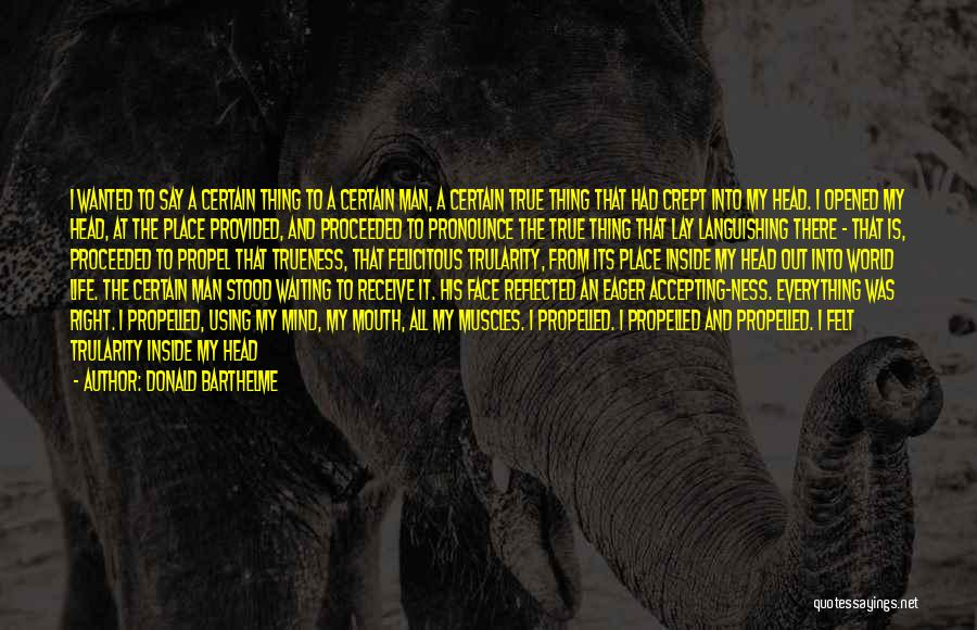 Moving Through Life Quotes By Donald Barthelme
