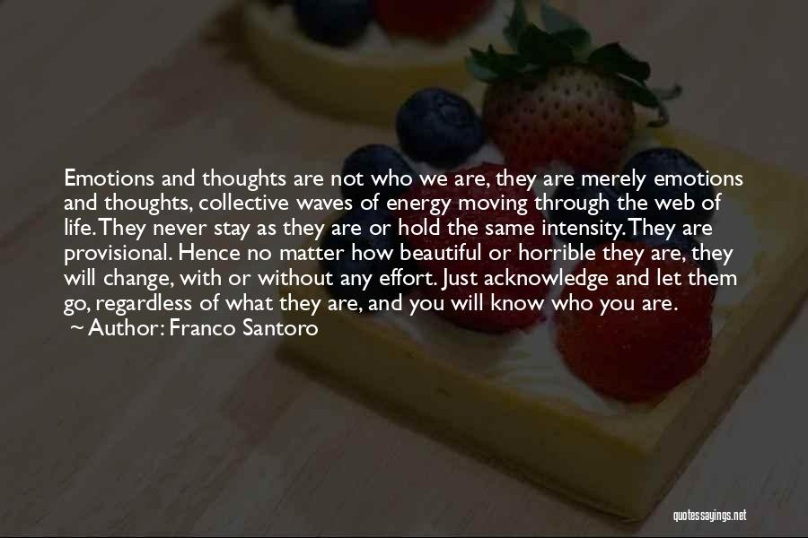 Moving Through Life Quotes By Franco Santoro