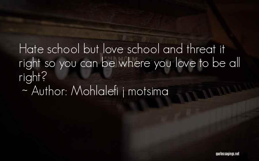 Mr Brightside Quotes By Mohlalefi J Motsima