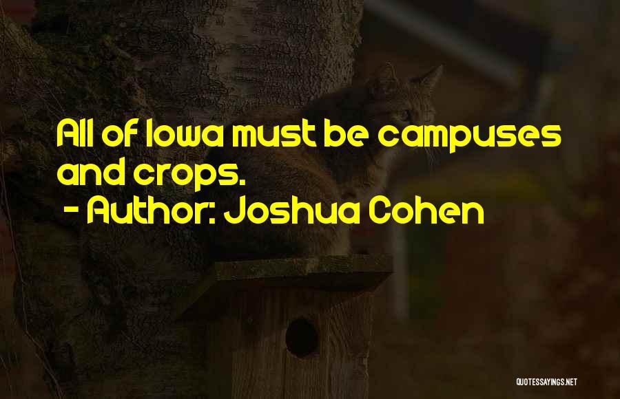 Mr Joshua Quotes By Joshua Cohen