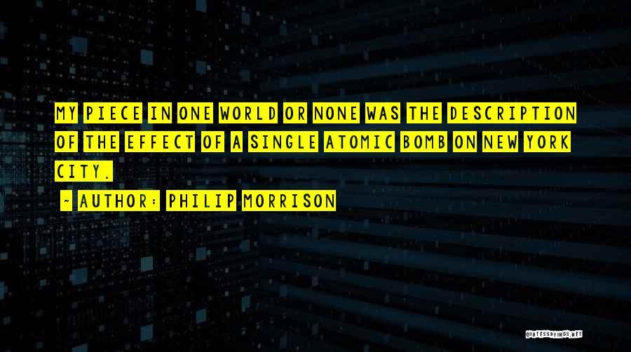 Mr Morrison Quotes By Philip Morrison