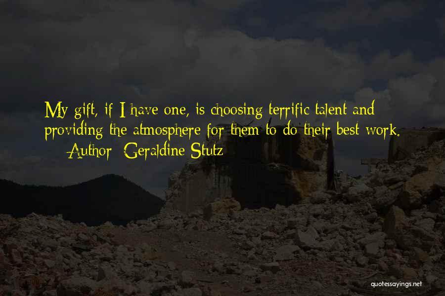 Mr Terrific Quotes By Geraldine Stutz