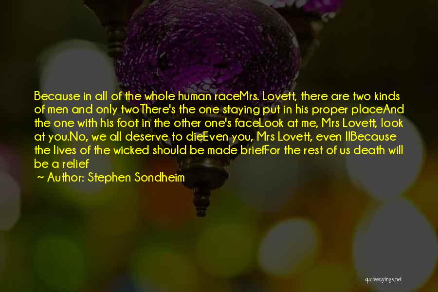 Mrs Lovett Quotes By Stephen Sondheim
