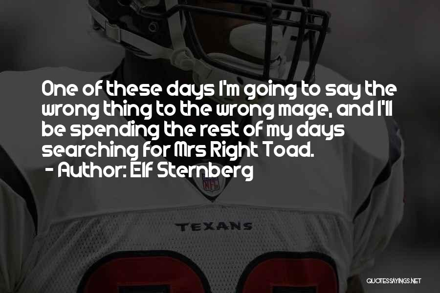 Mrs Right Quotes By Elf Sternberg