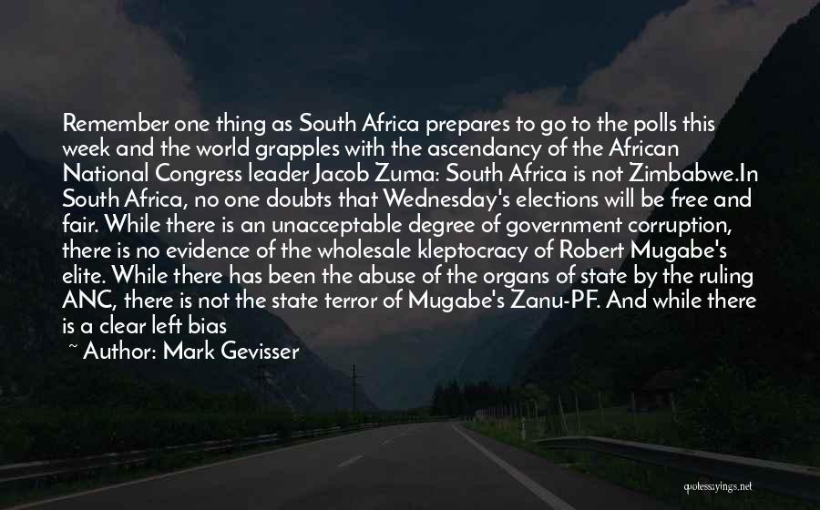 Mugabe Quotes By Mark Gevisser