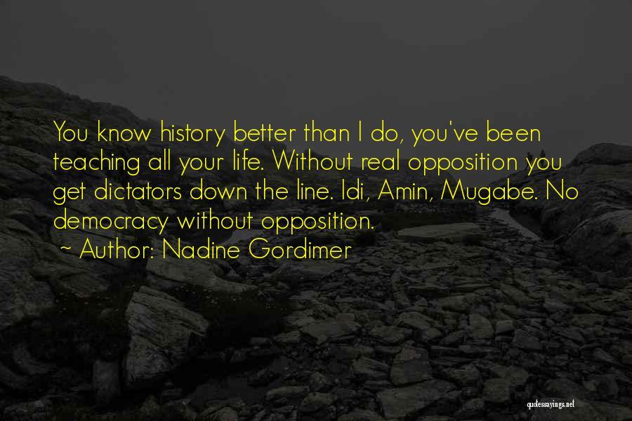 Mugabe Quotes By Nadine Gordimer