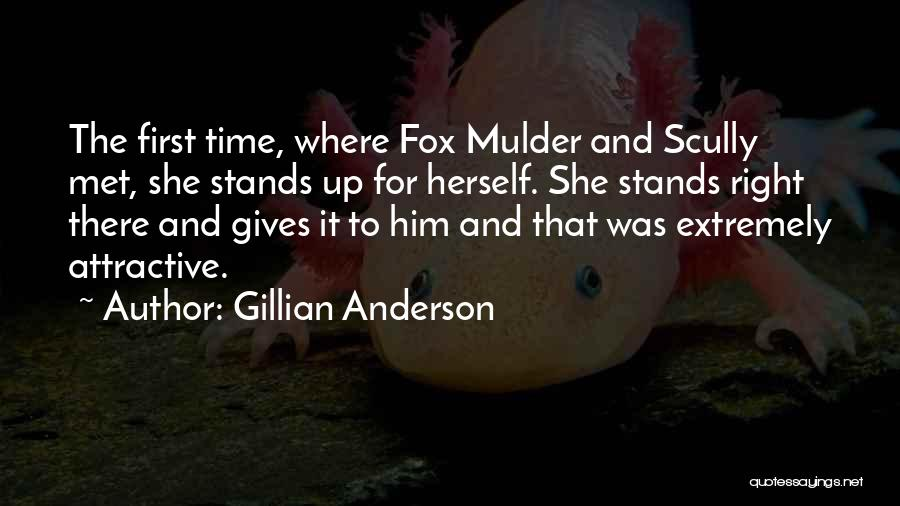Mulder Scully Quotes By Gillian Anderson