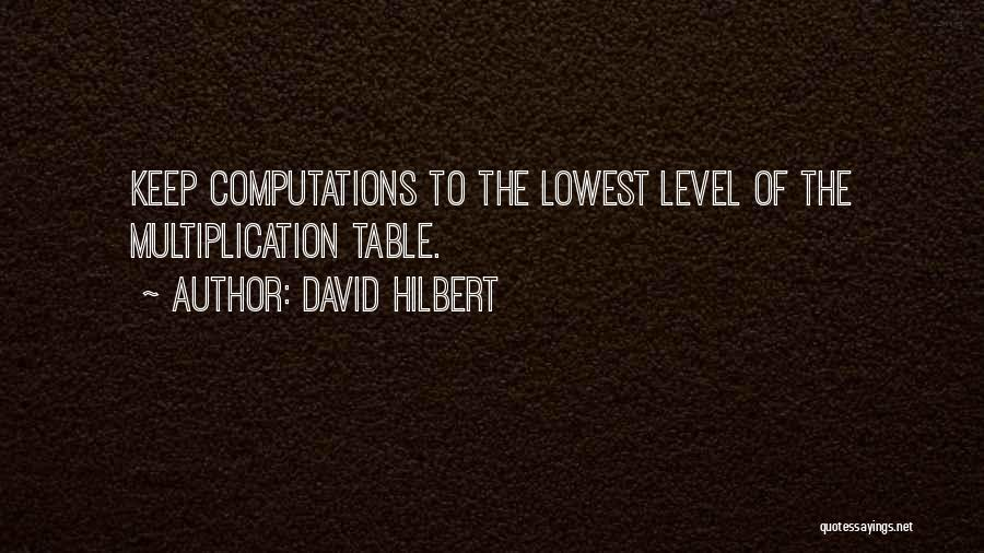 Multiplication Quotes By David Hilbert