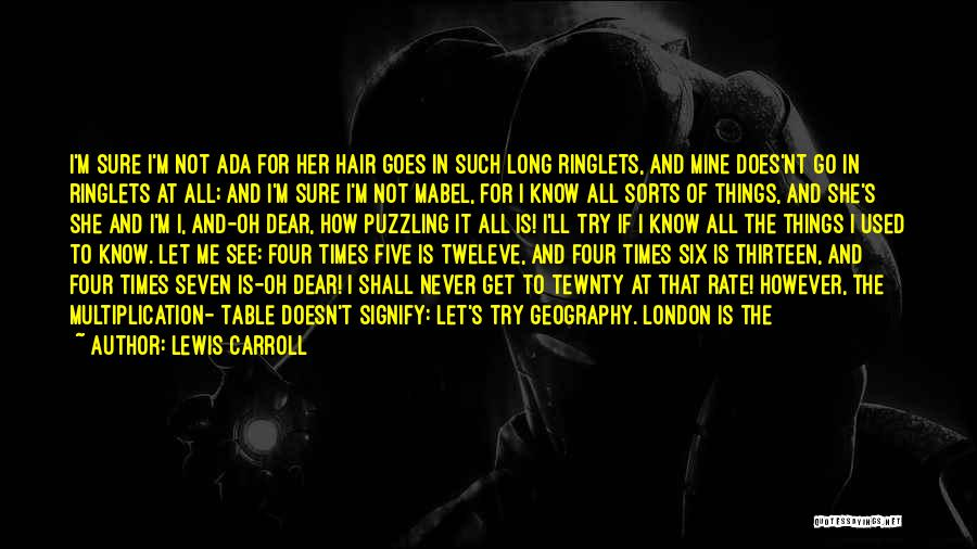 Multiplication Quotes By Lewis Carroll