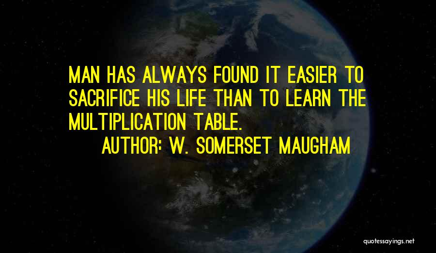 Multiplication Quotes By W. Somerset Maugham