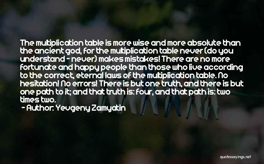 Multiplication Quotes By Yevgeny Zamyatin