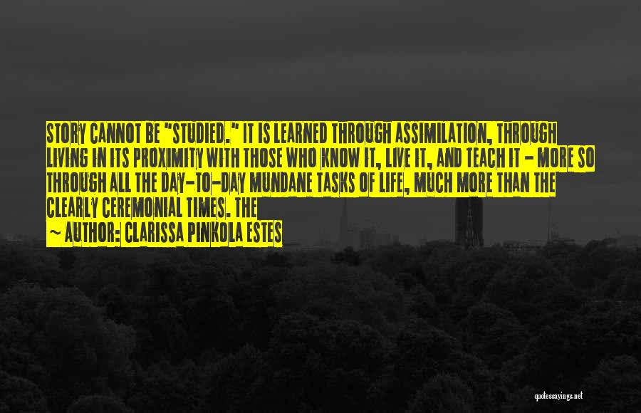 Mundane Tasks Quotes By Clarissa Pinkola Estes