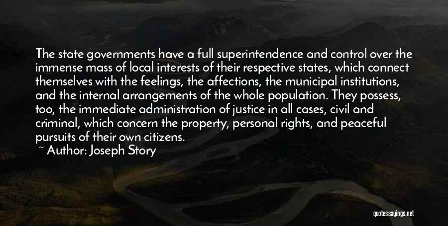 Municipal Government Quotes By Joseph Story