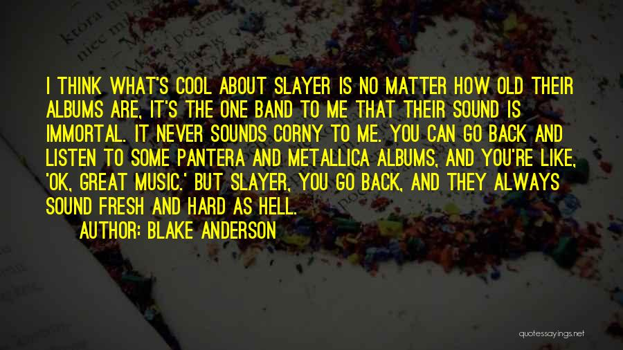 Music Albums Quotes By Blake Anderson