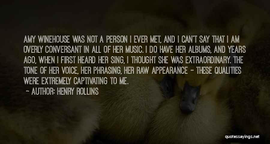 Music Albums Quotes By Henry Rollins