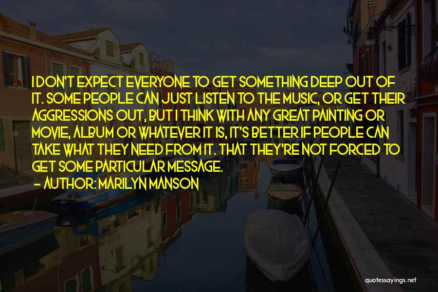 Music Albums Quotes By Marilyn Manson