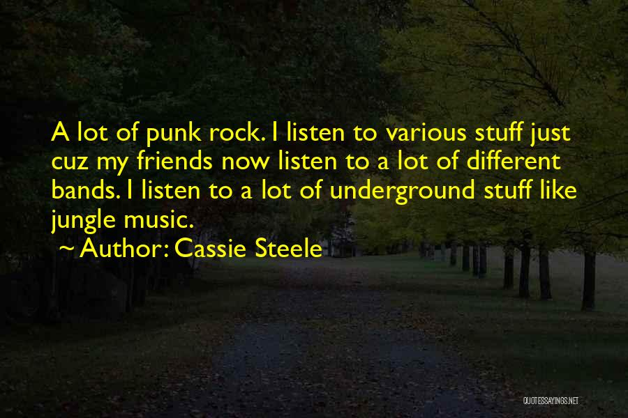 Music Bands Quotes By Cassie Steele