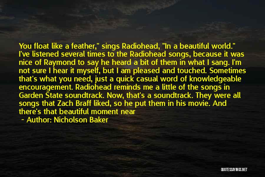 Music In Movies Quotes By Nicholson Baker