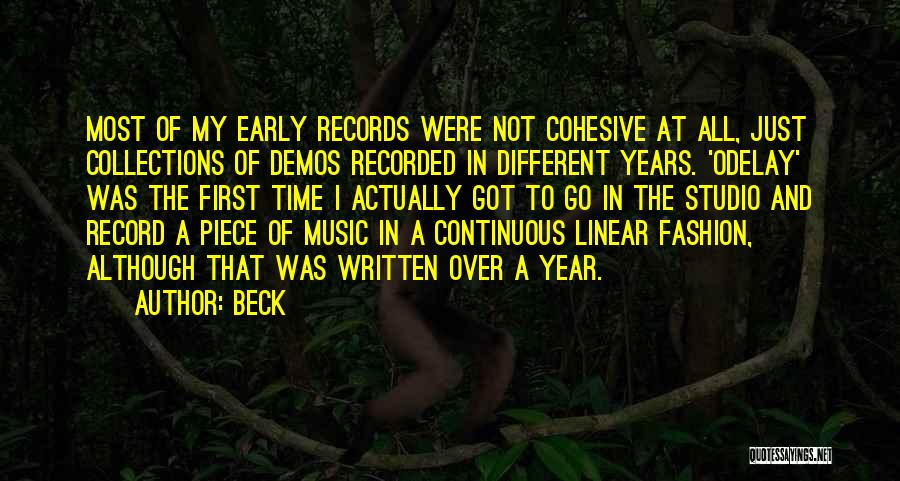 Music Records Quotes By Beck