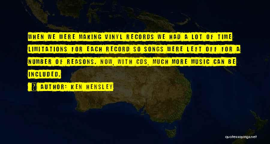 Music Records Quotes By Ken Hensley