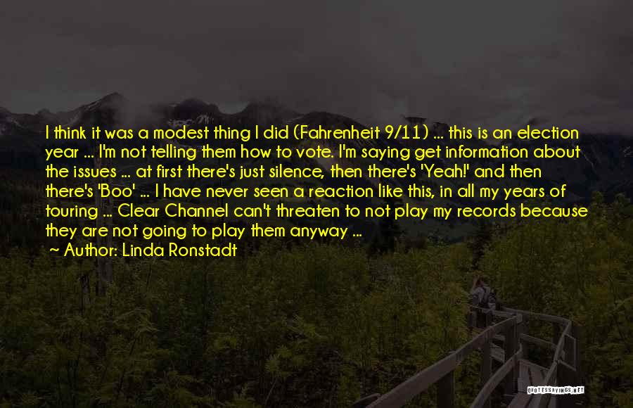 Music Records Quotes By Linda Ronstadt