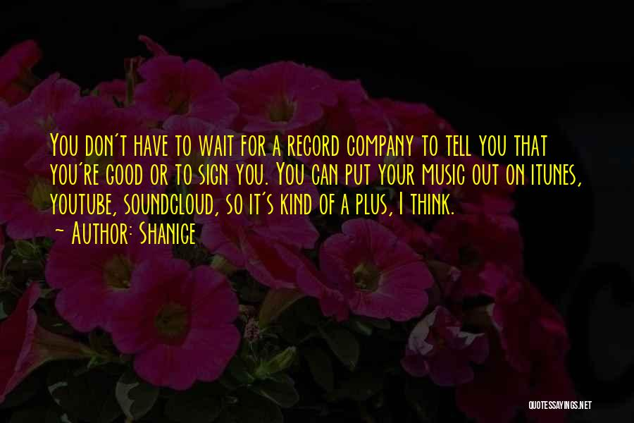 Music Records Quotes By Shanice