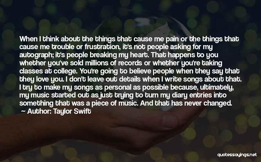 Music Records Quotes By Taylor Swift