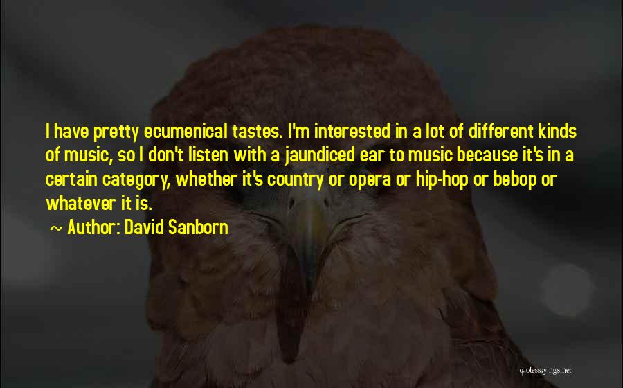 Music Tastes Quotes By David Sanborn