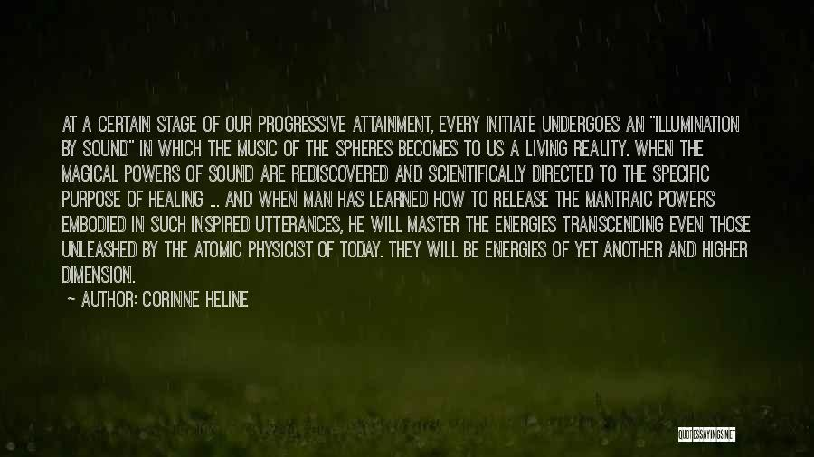 Music Transcending Quotes By Corinne Heline