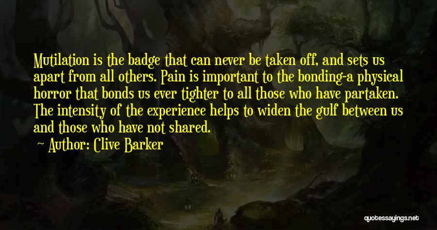 Mutilation Quotes By Clive Barker